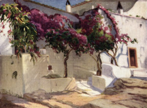 'Sunlight on an Aegean Home' from the book. Painted in 1927 by Nicolas Himona.